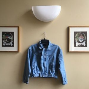 Cropped Denim Jacket from PRETTYLITTLETHING